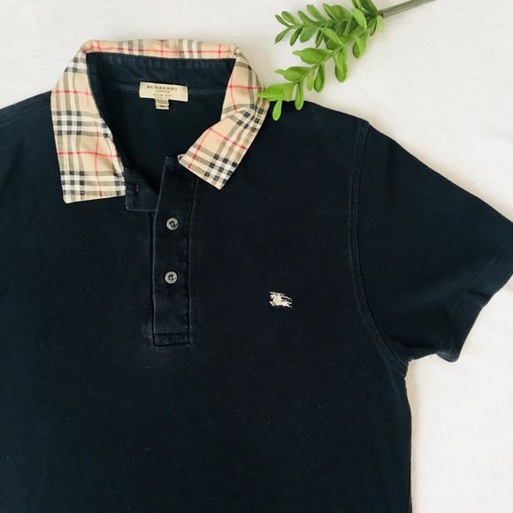 3d16ee48b Burberry Tops - Burberry Nova Check Collared Polo Slim Fit